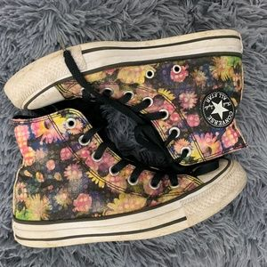 Floral Converse High Tops Size 6